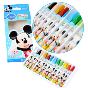 真彩多色油画棒 迪士尼米奇儿童油画棒 迪士尼蜡笔