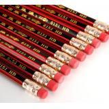 中华6151铅笔 HB中华铅笔 六角红色木杆 学生橡皮头铅笔