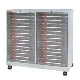 文汇三十层资料柜 A3230金属外壳透明柜桶 配轮耐用收纳柜