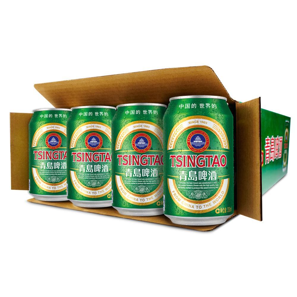 青岛啤酒 经典系列 啤酒330ml*24听/箱