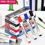 得力6817白板笔 水性可擦白板笔 2mm 展示板笔黑板书写笔办公用品
