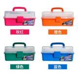 马利半透明多层工具箱 手提式颜料美术小学生画箱 G3743B...