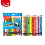 马培德(Maped)24色动物彩铅 素描填色套装 儿童成人绘...