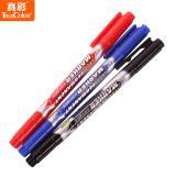 真彩油性记号笔0615B小双头记号笔红蓝黑色