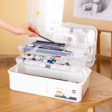 得力美术工具箱68302画画用多功能画箱