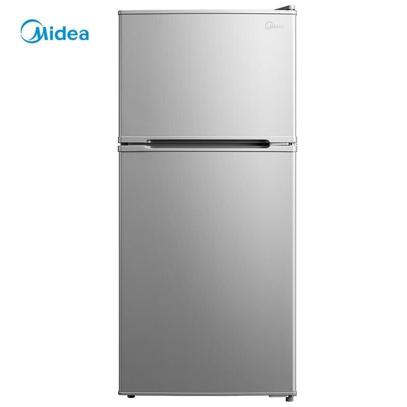 美的冰箱小型迷你双门小冰箱112升双开门电冰箱节能静音BCD-112CM