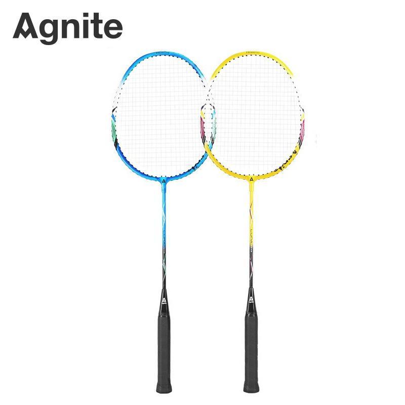 【得力旗下】安格耐特(Agnite)羽毛球拍套装 铝合金男女对拍 F2103