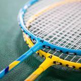 【得力旗下】安格耐特(Agnite)F2101羽毛球拍双拍耐用型蓝黄色两只装