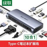 绿联Type-C扩展坞USB-C转HDMI/VGA转换器拓展...