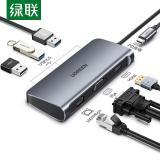 绿联 Type-C扩展坞USB-C转HDMI/VGA千兆网口电脑转换器七合一