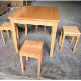 榉木餐桌/方凳