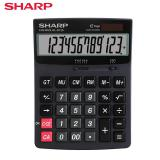 SHARP/夏普EL-D120中号商务计算器太阳能双电源计算器