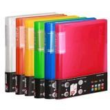齐心 资料册 可变脊背插页袋 文件册 文件夹多彩SF40AK 40袋/SF60AK 60袋