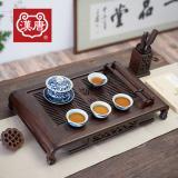 汉唐实木茶盘 经典悠然大号茶台抽屉式储水排水 功夫茶具套装