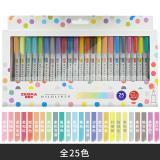 斑马笔WKT7 荧光笔日本斑马 新色淡色双头荧光笔学生用标记...